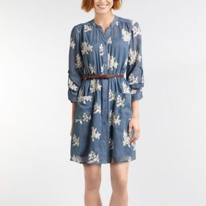 Beige By Eci Embroidered Chambray Shirt Dress A769